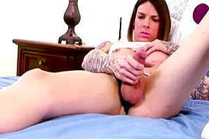 Adorable Tattooed Girl Jerking Off In Front Of Our Cams
