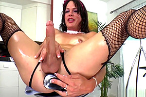 Gina Hart Is A sheboy With dildos