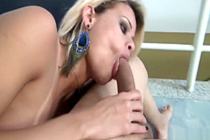 breasty Braces Wearing t-girl Cums whilst Getting banged