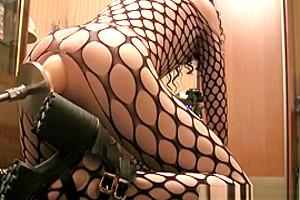 Sissy - large Inflatable fake penis In anus