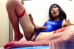 mature Japanese shelady Plays In Public bath