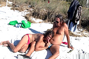 Jamie And Michelle TS engulf Each Other At The Beach!