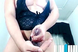 BBW sheboy Jerks Hard And Plays With love juice
