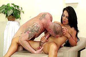 Shemale Nurse Chanel Santini makes her patient better by fucking his ass