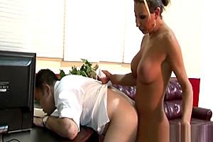 Blonde Tranny Plows Butt