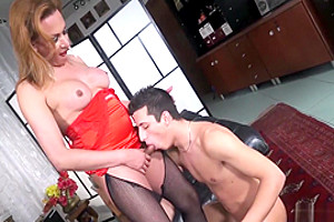 Trans Bella - Gorgeous Latina Tranny Drills Big Dicked Guy