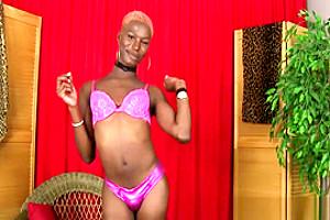 Petite Ebony Ts Pinches Her Nipples