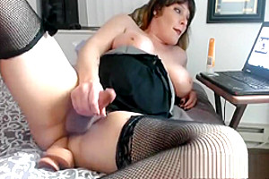 Chubby Bbw Shemale Sexy Cock Jerking