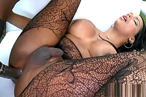 Hot busty tranny gets fucked in her ass