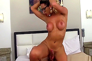 Hot and beautiful shemale with big tits getting fucked raw