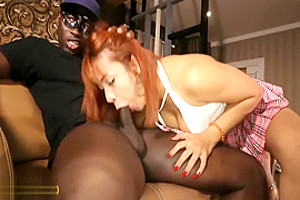 First black cock for this ladyboy and she loves it