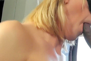 Busty trans babe assfucked by black guy