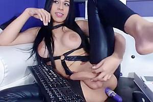 nasty In Latex Masturbate On webcam