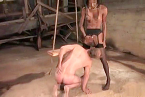 charming ebon ladyboy pounding Her lover