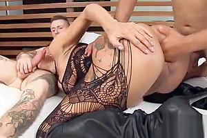 naughty ladyboy Valerya Pacheco pounded By Two boyz