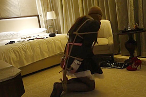 sissy maid trying to get loose