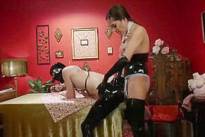 Tranny Jessica Fox At A Tea Party With Her Slave - ShemaleDream.Tube