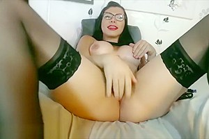 Tatty ass sex toy play jerking off in front of cam