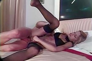aguyur tranny In black stockings hammered