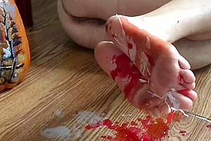 Wax all over my feet