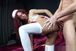 Italian tranny blows her dong juicey Load