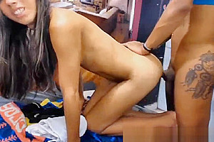 tasty Inked tranny couple Does Non Stop a-hole Ramming