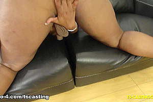 Voluptous Saphire On the New Couch - TS-Casting-Couch