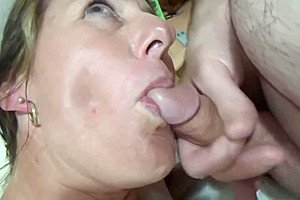 Chloe gets her mouth filled with a big thick tasty load of cum