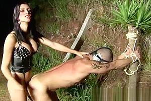 Tranny Ties Up A Guy For Cruel Fuck