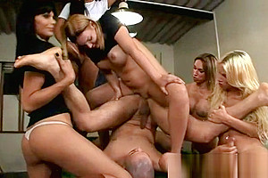 Shemales Poking A Buck Ass Hole In Orgy