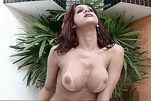 Hot shemale Francine Munhoz in a jacuzzi