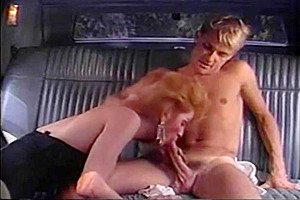 Car sex with a vintage blonde
