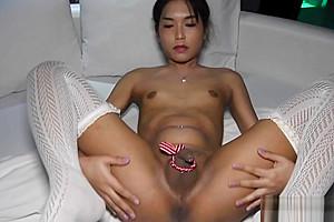 Teen Ladyboy Hiroko Gives Blowjob