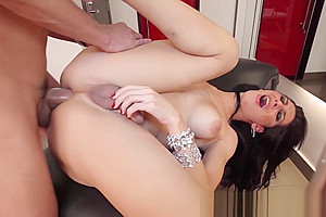 Hottest latina tgirl lactating and has her asshole hammered
