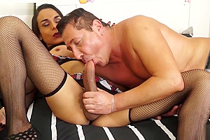 Astonishing porn video tranny Shemale Fucks Guy crazy only for you