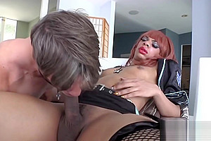Ebony Trans Girl Sasha Strokes Assbangs Her Man