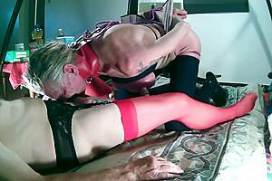 lovedildos in bondage and anal hook!