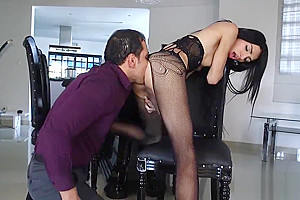After giving a ideal blow the ladyboy gets anal tunnelled