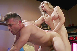 Blonde tranny anal fucks Peeping Tom