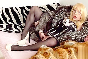 Mistress Mony in two furs