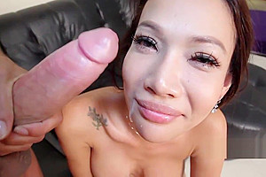 Shemale pussy takes big cock