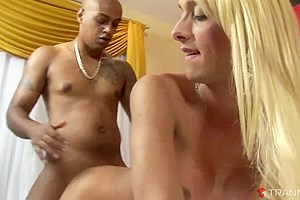 Jessica Ketlen & Andre Garcia in Busty Blonde Tranny Loves BBC - Tranny