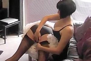 Exotic amateur shemale clip with Big Tits, Uniform scenes