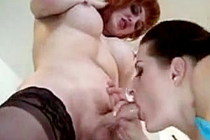 Horny bitch sucks Tgirls cock