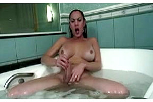 Big titted tranny solo action