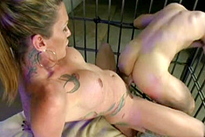 Hot anal in the cage