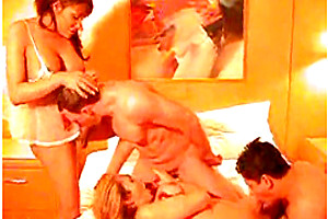 Orgy with busty Tgirls