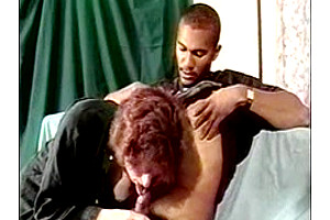 Vintage TS milf gets her dick sucked before anal